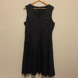 Jones New York Collection Navy Blue Dress sz 14